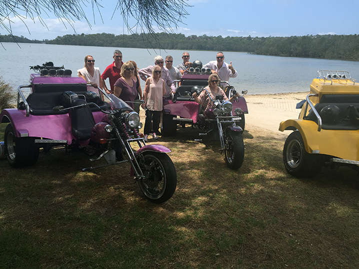 Harley trike ride Manly