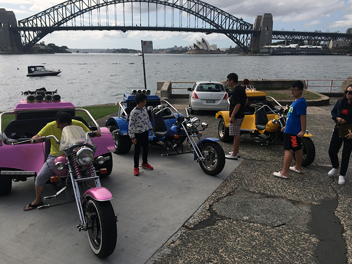 The 3 Bridges trike ride, Sydney