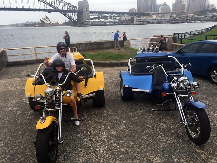 Harley trike ride Sydney Australia