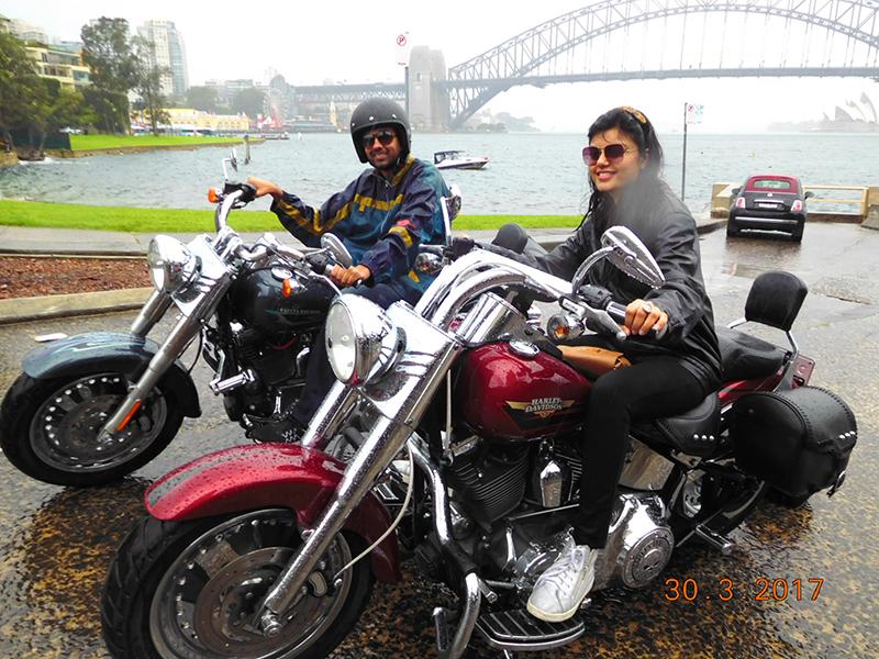 Harley tour three bridges