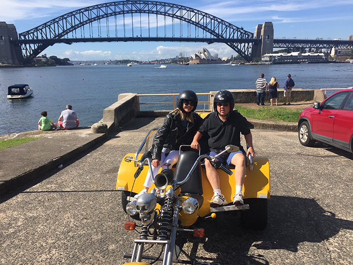 Harley trike ride 3 Bridges Sydney