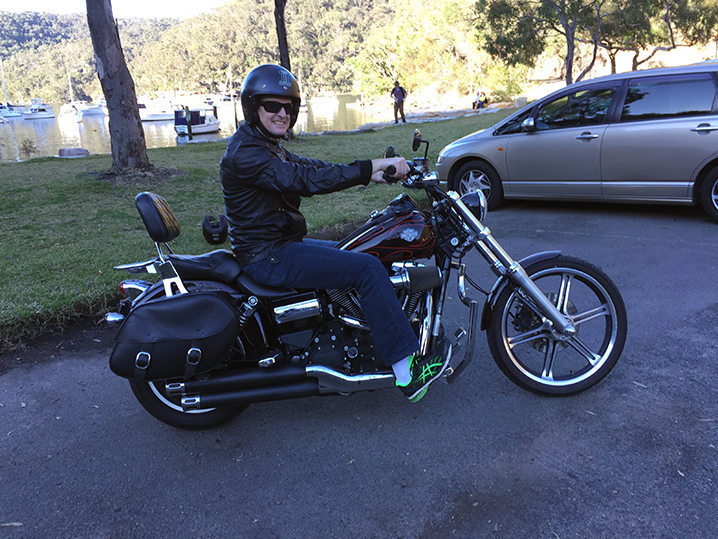 Harley ride, Ku-ring-gai Chase National Park, Sydney