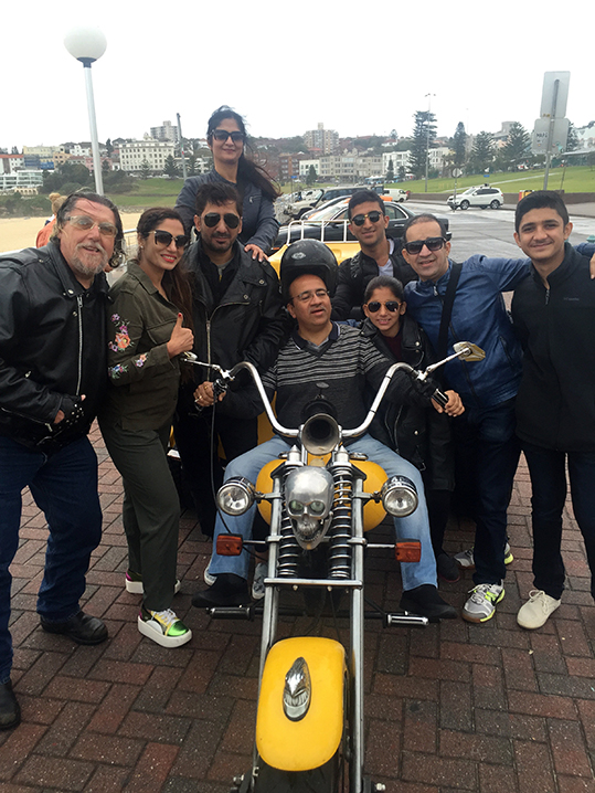 Indian Passengers on Harley ride, Sydney