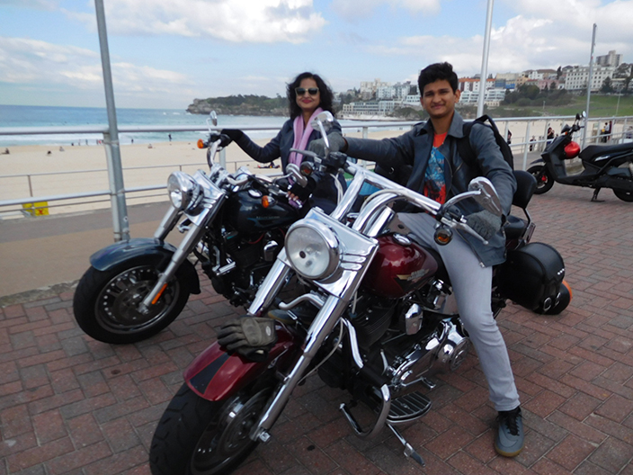 Harley tours Sydney Indian tourists