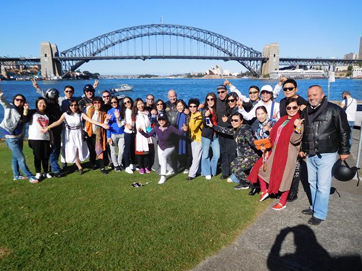 Harley trikes tour group Sydney