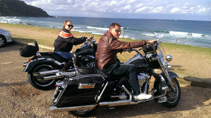 Harley ride Palm Beach, Sydney