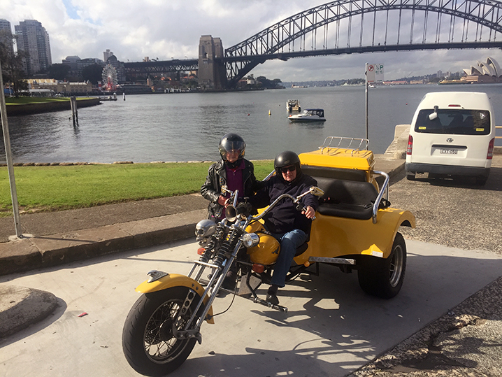 Eightieth birthday present trike ride