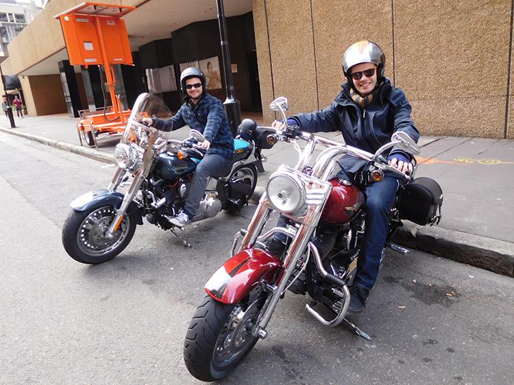 Harley ride Gladesville Bridge, Sydney