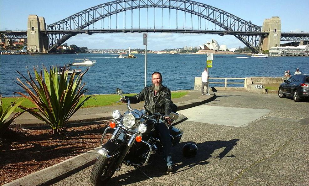 Harley ride present, Sydney