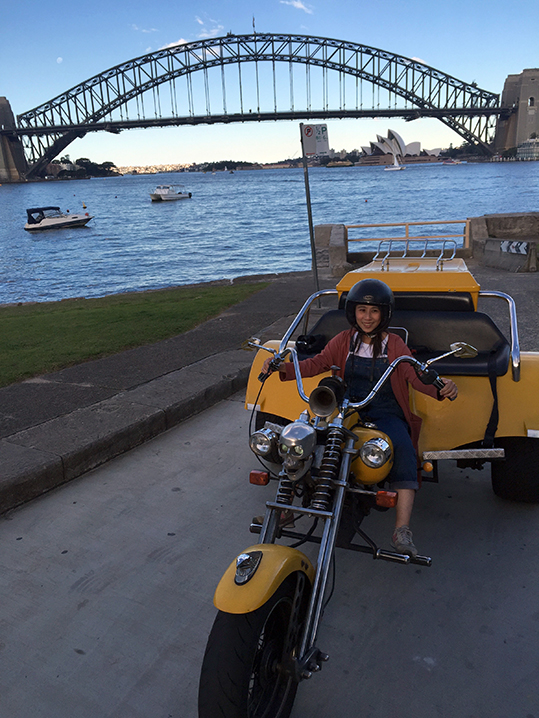 Harley trike tour, travel agents on Famil