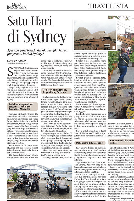 'One Day in Sydney' - a Harley tour