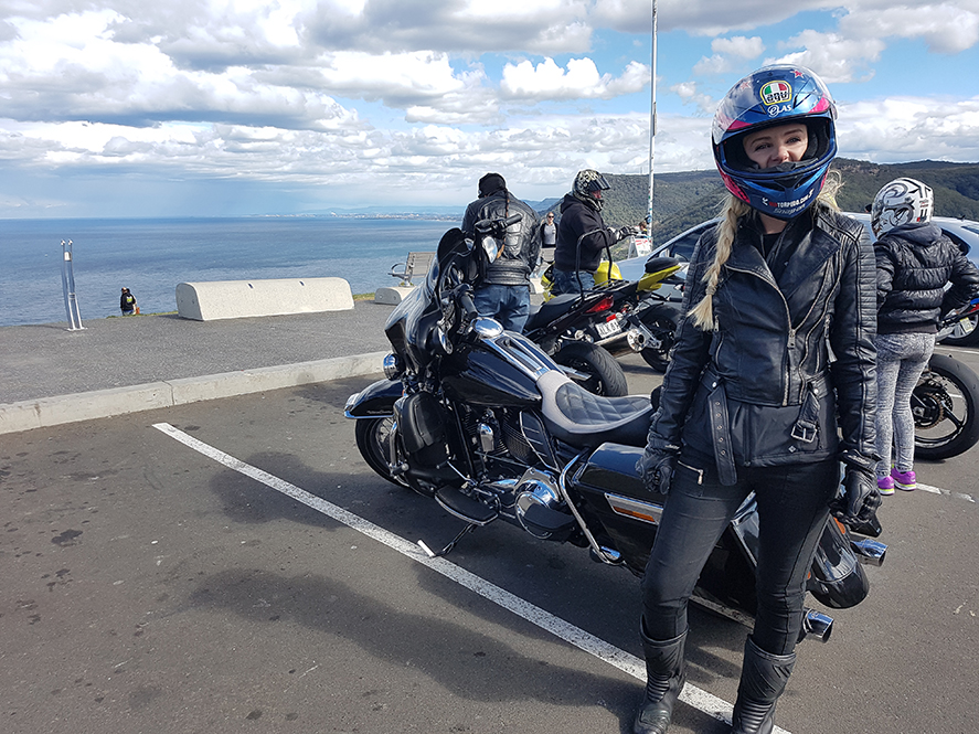 Harley tour Sea Cliff Bridge Clifton