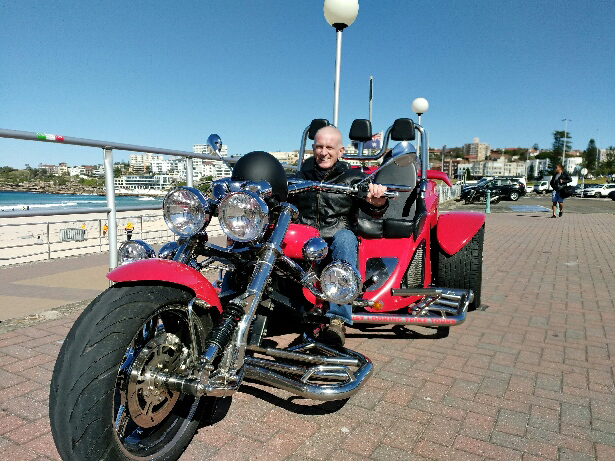 trike ride from Coogee, Sydney