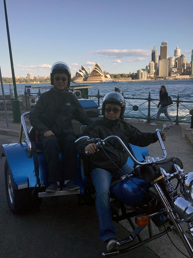 Harley trike tour in Sydney Australia