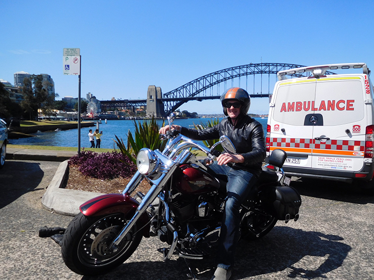Harley city tour in Sydney