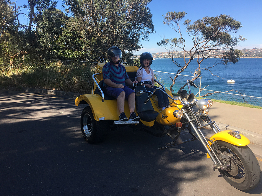 trike ride for Irish tourists in Sydney