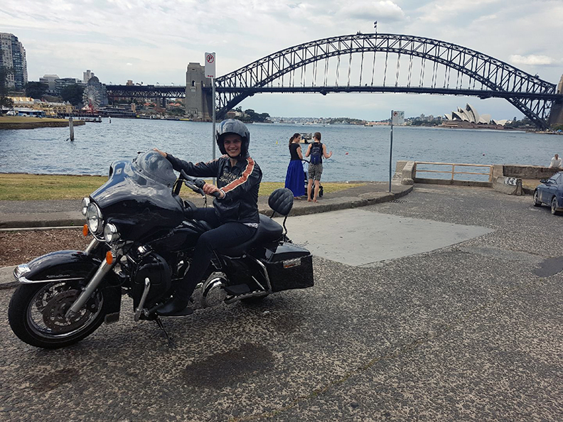 Harley tour over Sydney Harbour Bridge