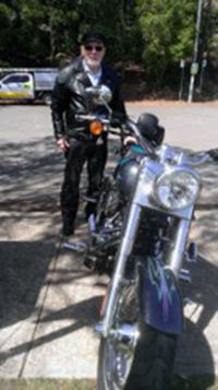 Harley ride, Brooklyn