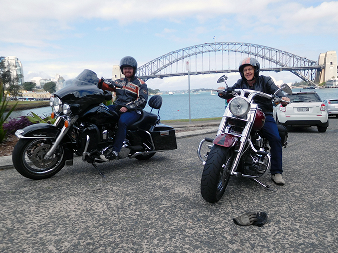 Sydney sights Harley ride