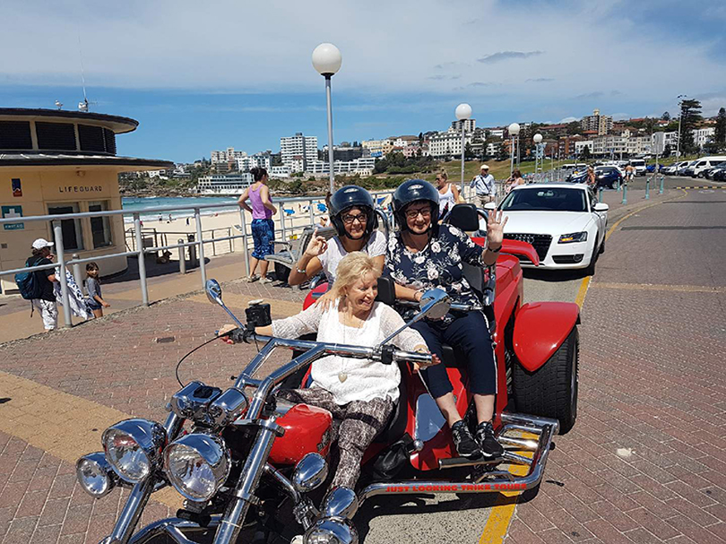 trike ride to Bondi Sydney