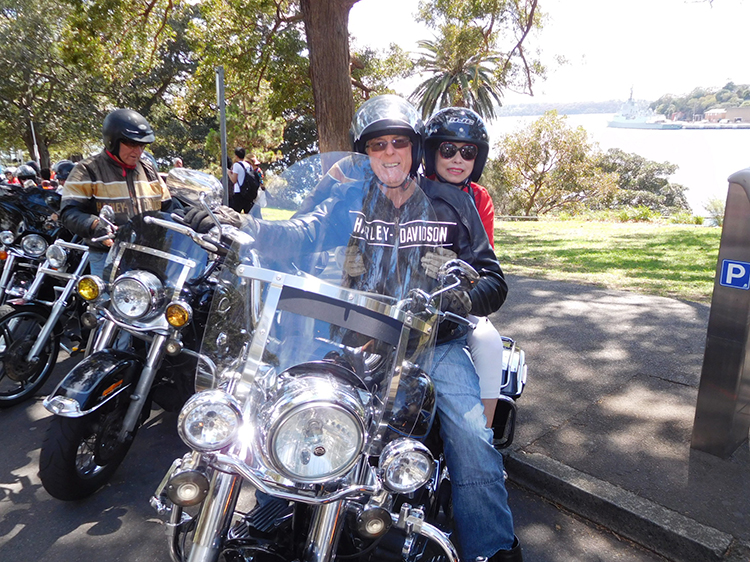 Chinese-group-Harley-trike-ride