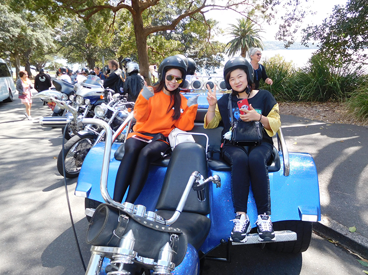 Chinese-group-Harley-trike-ride