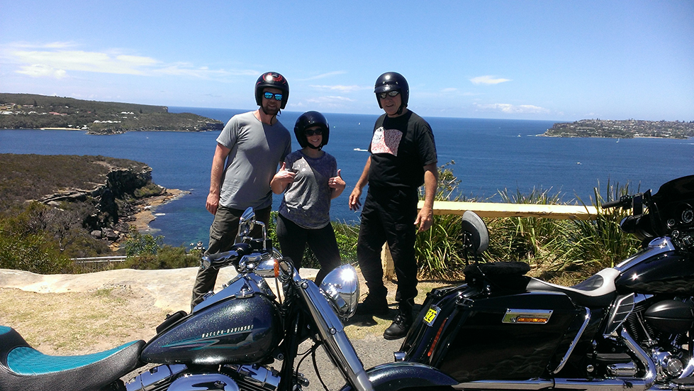 Harley ride, Manly scenic tour