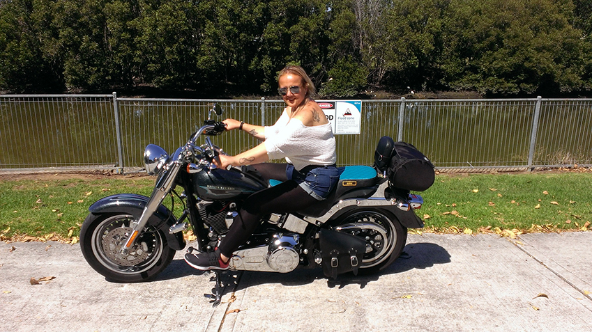 Harley ride surprise birthday gift