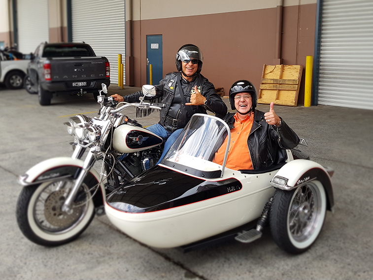 Harley sidecar surprise ride