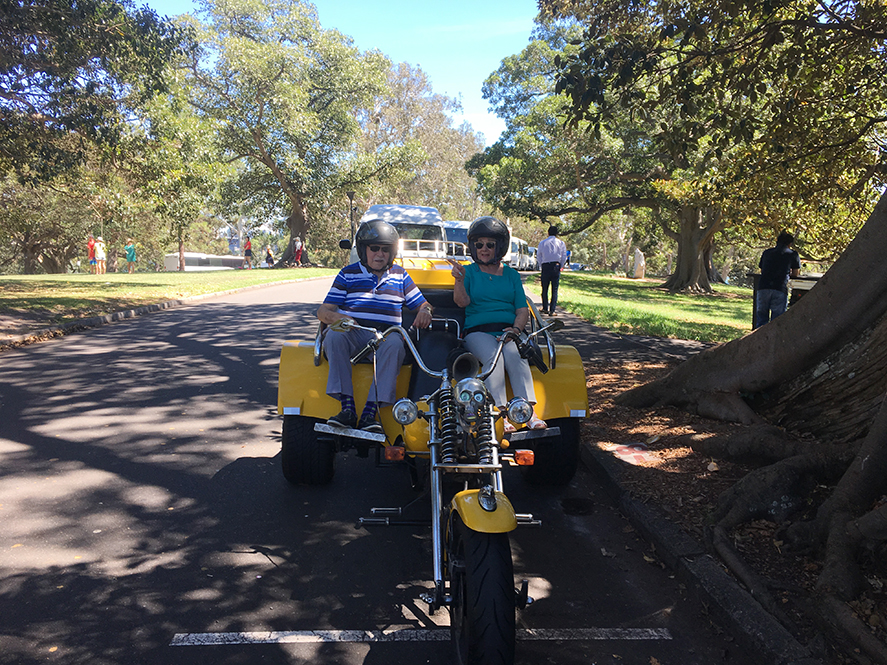 trike ride 90th birthday surprise