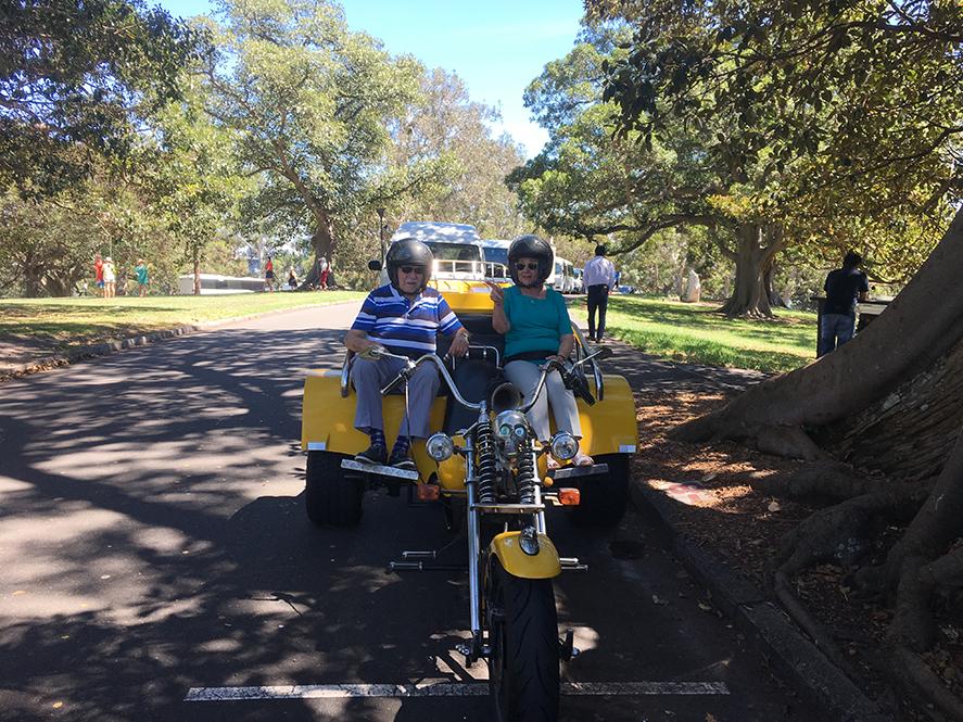 trike ride 90th birthday surprise