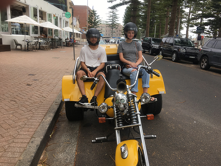trike ride Australia Day Manly