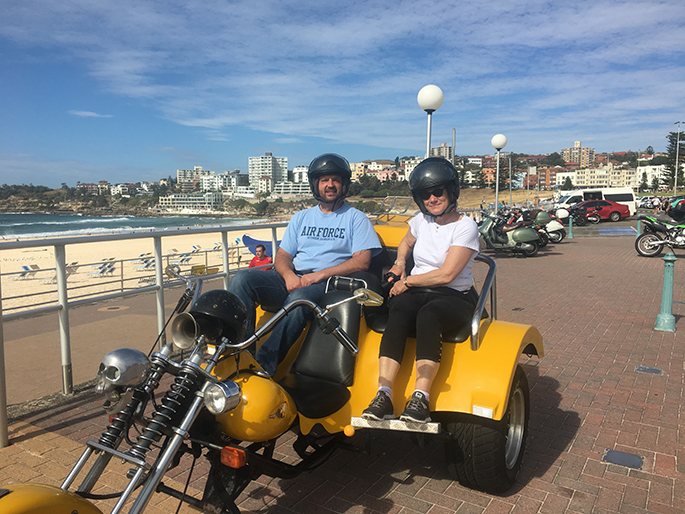 trike ride showing off Sydney