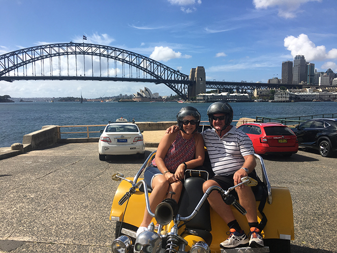 trike tour before cruising