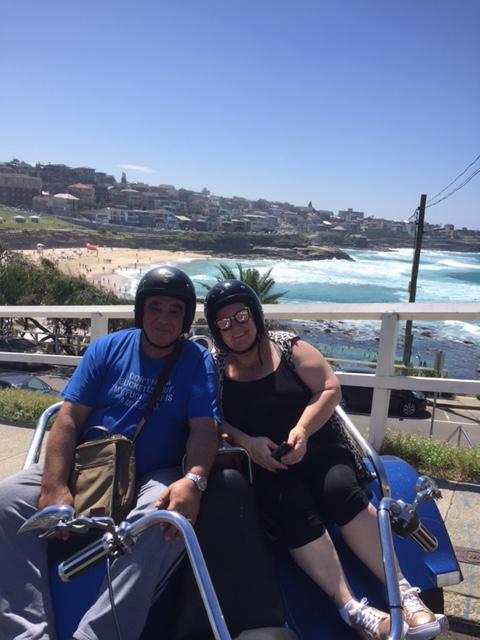trike ride Bondi Beach