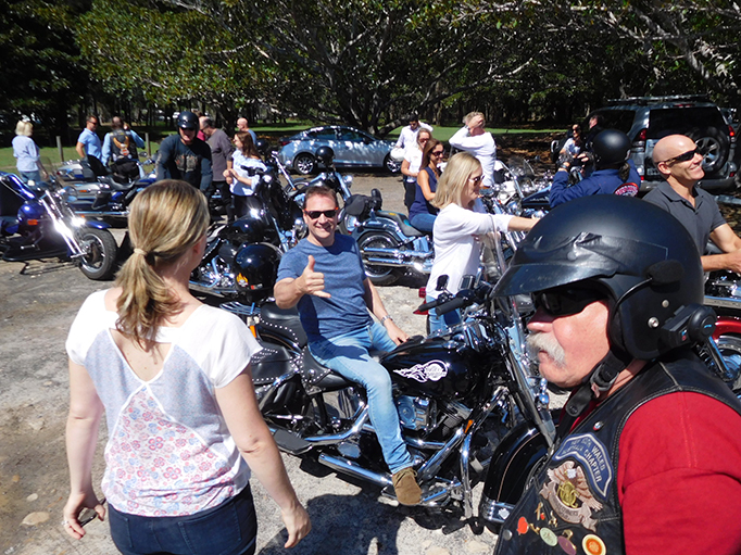 Harley trike ride corporate lunch transfer