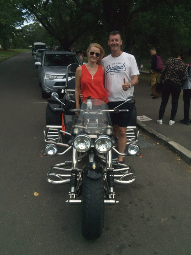 trike ride through Eastern Suburbs Sydney