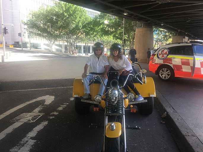 trike ride while holidaying in Sydney