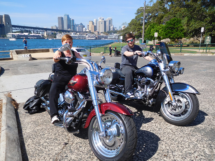 Harley ride around Sydney