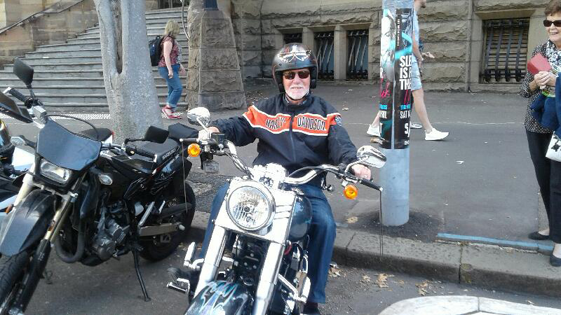Harley ride birthday present in Sydney