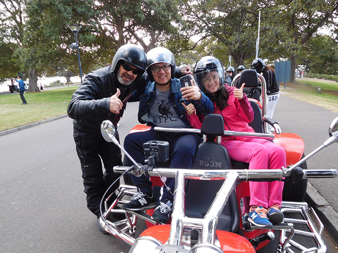 Harley tour Mrs Macquaries Chair Sydney