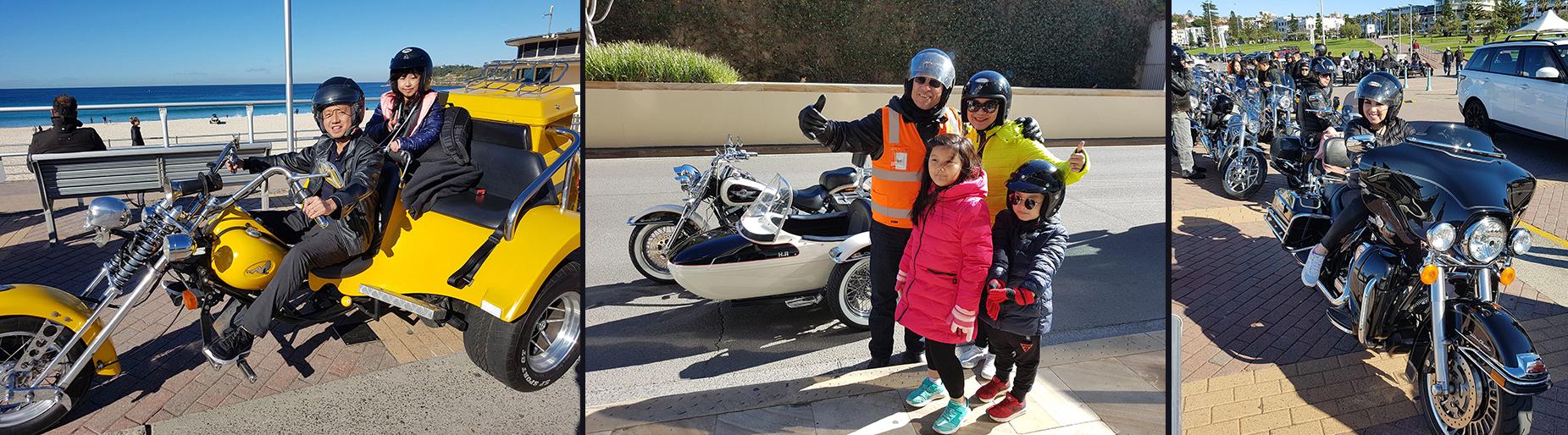 Harley tour Bondi Beach Sydney