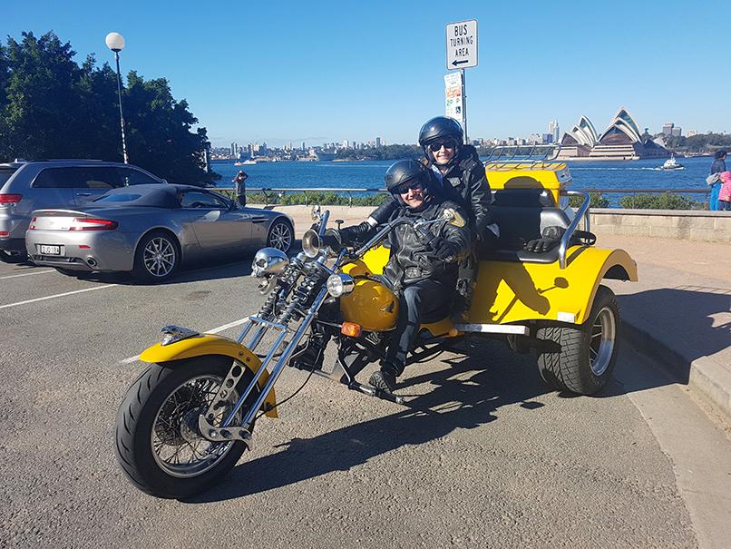 Sydney locals trike tour during Sydney weekend