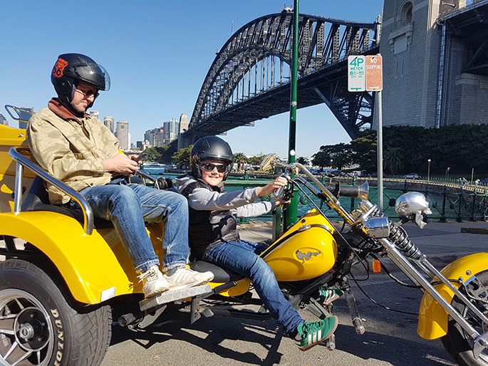 trike ride while working in Sydney