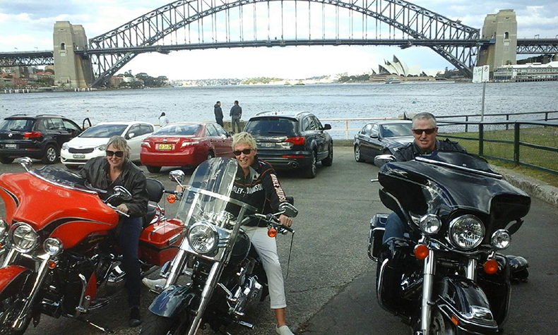 Harley ride over Sydney Harbour Bridge