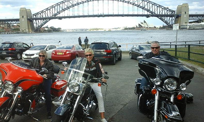 Harley ride over Sydney Harbour Bridge