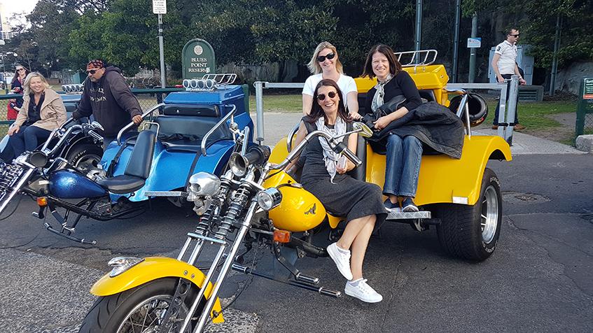 team bonding trike tour Sydney