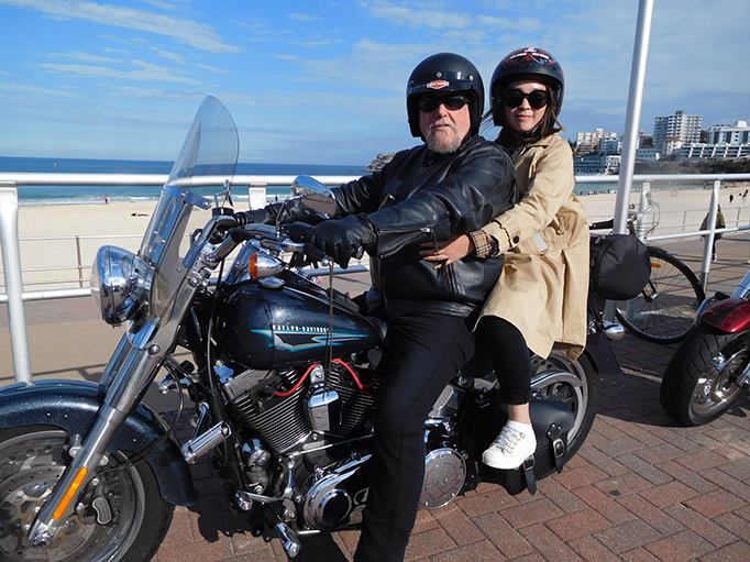Harley trike and sidecar Sydney tour