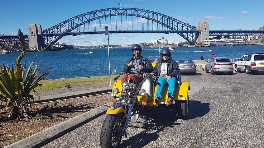 trike tour around Sydney