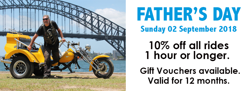 Father's Day Harley or trike ride Sydney